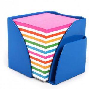 Bantex Optima Memo Cube Fashion Blue – Rainbow Paper