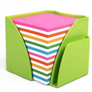 Bantex Optima Memo Cube Fashion Green – Rainbow Paper