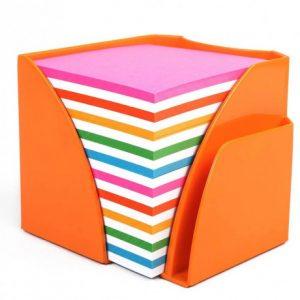 Bantex Optima Memo Cube Fashion Orange – Rainbow Paper