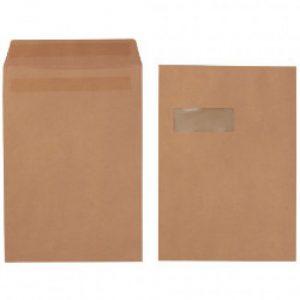 LEO C4 Envelopes Manila Window Self-Seal Pocket (Box 250)
