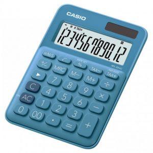 Casio MS20UC 12-Digit Mini Calculator – Blue