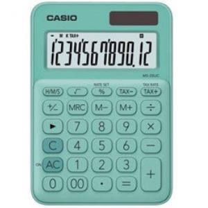 Casio MS20UC 12-Digit Mini Calculator – Green