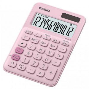 Casio MS20UC 12-Digit Mini Calculator – Pink