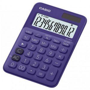 Casio MS20UC 12-Digit Mini Calculator – Purple