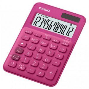 CasioMS20UC 12-Digit Mini Calculator – Red