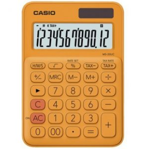 Casio MS20UC 12-Digit Mini Calculator – Orange