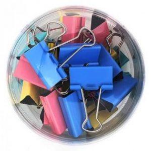 Croxley Foldback Clips 32mm – Assorted Colours (24 Piece)