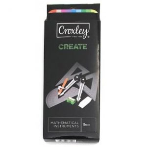 Croxley Create Mathematical Instruments Set – 11 Piece