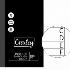 Croxley Index Book A6 – 148 X 105mm JD424 – 144 Page