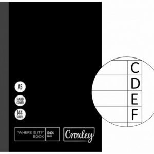 Croxley Index Book A5 – 210 X 148mm JD426 – 144 Page