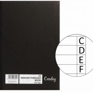 Croxley Index Book A4 – 297 X 210mm JD7567 – 192 Page