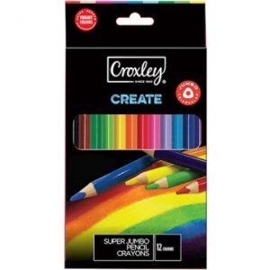 Croxley Super Jumbo Pencil Crayons – 12s