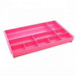 Bantex Desk Organiser 10 Compartment – Fashion Pink