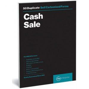 RBE NC A5 Duplicate Cash Sale