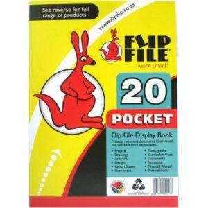 Flip File Kangaroo A4 Display Book – 20 Pockets