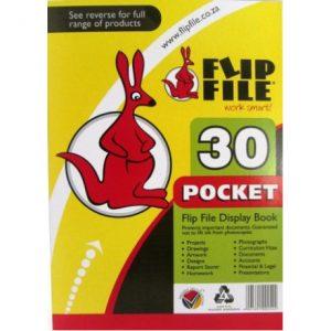 Flip File Kangaroo A4 Display Book – 30 Pockets