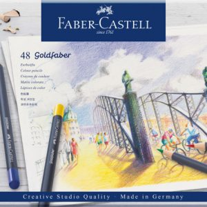 Faber Castell Goldfaber Colour Pencil – Tin Of 48