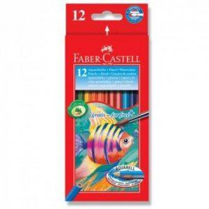 Faber Castell Full Length Aquarelle Colouring Pencils – 12s