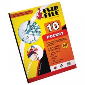 Flip File Kangaroo A2 Display Book – 10 Pockets