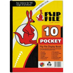 Flip File Kangaroo A4 Display Book – 10 Pockets