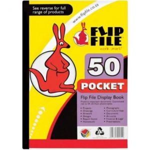 Flip File Kangaroo A4 Display Book – 50 Pockets