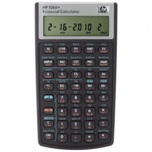 HP 10bII+ Business Calculator (Algebraic) – Non-Programmable