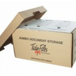 Tidy Files Jumbo Document Storage Box With Lid (Holds A4) – Kraft
