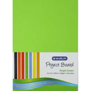 Marlin Project Boards A4 160gsm 100'S Bright Green