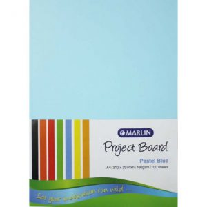 Marlin Project Boards A4 160gsm 100'S Pastel Blue