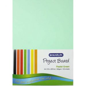 Marlin Project Boards A4 160gsm 100'S Pastel Green