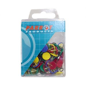 Parrot Drawing Pins – Assorted (100 Piece)
