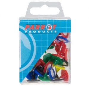 Parrot Hexagonal Pins – Assorted (Pack Of 30)