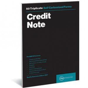 RBE NC A5 Triplicate Credit Note