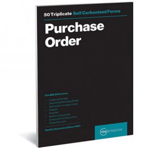 RBE NC A5 Triplicate Order Pad