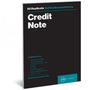 RBE A5 Duplicate Credit Note