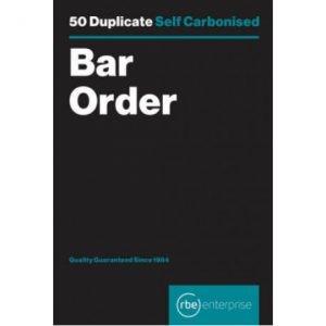 RBE NC Bar Order Pad Duplicate A7 – 5 Pack