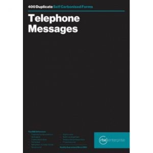 RBE Telephone Message Book – 8 To View NCR – 400 Messages