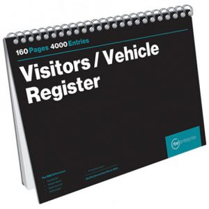 RBE A4 Visitors/Vehicle Register – 160 Pages – 4000 Entries