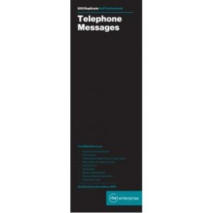 RBE Telephone Message Book – 4 To View NCR – 200 Messages