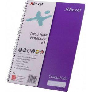 Rexel Purple Colourhide A4 Notebook – 120 Page