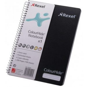 Rexel Black Colourhide A5 Notebook – 200 Page