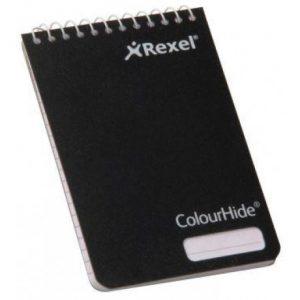 Rexel Black Colourhide Pocket Notebook – 96 Page