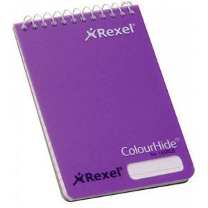 Rexel Purple Colourhide Pocket Notebook – 96 Page