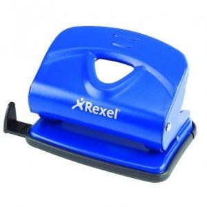 Rexel V230 Value 2-Hole Metal Punch – Blue (30 Sheet)