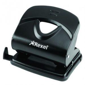 Rexel V230 Value 2-Hole Metal Punch Black (30 Sheet)
