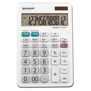 Sharp EL334FB Mini Desk Calculator 10 Digit