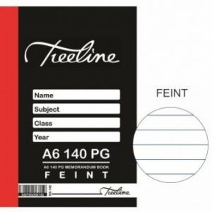 Treeline Memorandum Book A6 – 140 Page Feint