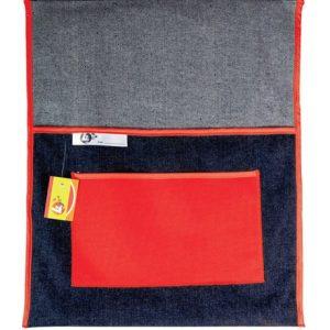 Trefoil Denim Chair Bag 380mm – Red