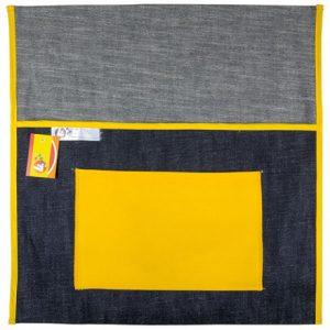 Trefoil Denim Chair Bag 380mm – Yellow