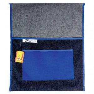 Trefoil Denim Chair Bag 440mm – Blue